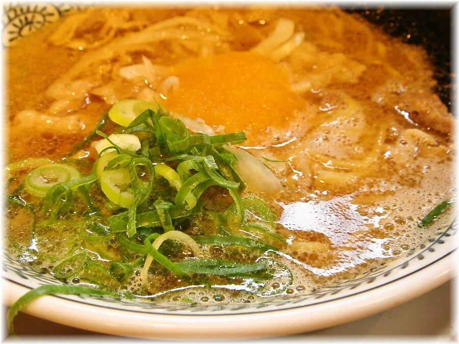 丸源ラーメン 肉そばのスープ