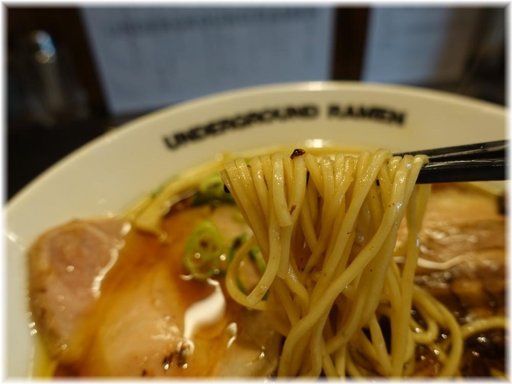 UNDERGROUND RAMEN川越 特製中華そばの麺