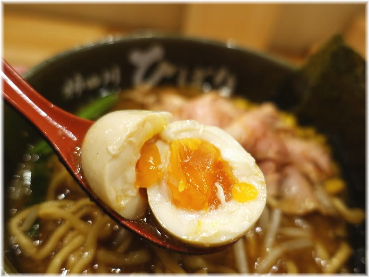 柿田川ひばり 特製味噌らーめんの味玉