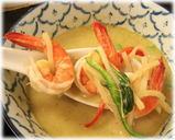 づゅる麺池田 タイカレーつけ麺の海老