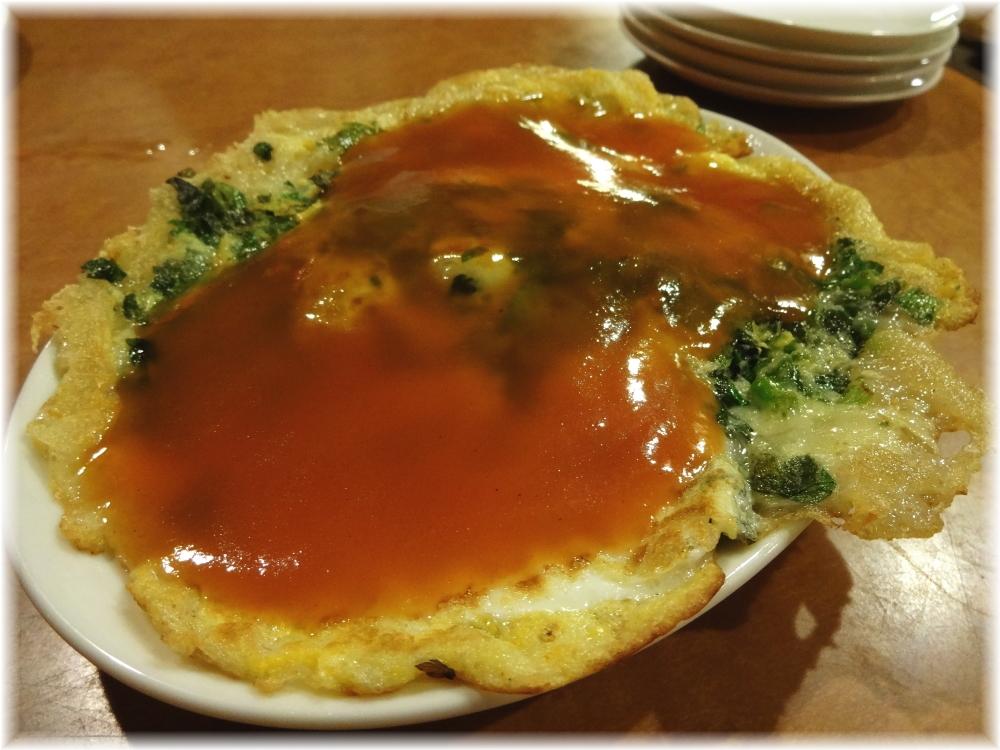 台南担仔麺 牡蠣のオムレツみたいの
