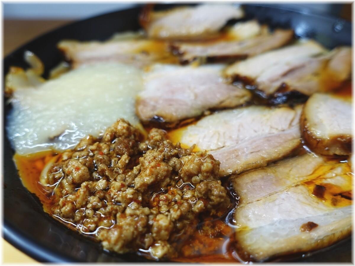 北大塚ラーメン 激辛チャーシュー麺(並)にニンニクの具2