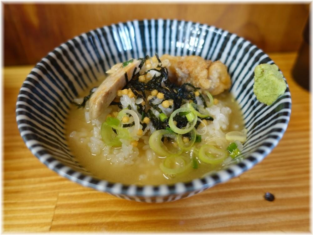 中華そばよしかわ4 鮟鱇らーめん専用茶漬け用ご飯にスープ