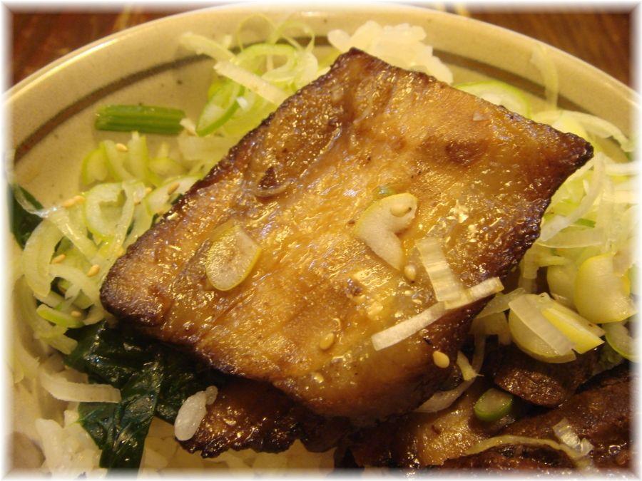 汐そば屋 本日のミニ丼の炙りチャーシュー