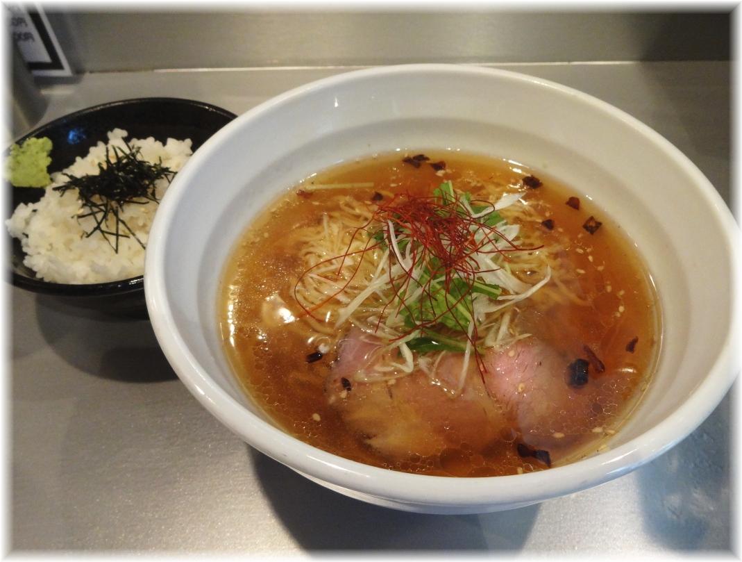 天雷軒 琥珀醤油拉麺とお茶漬け用ごはん