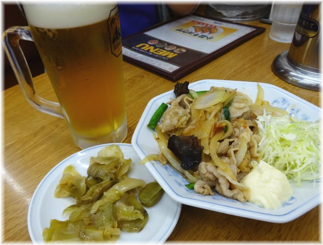 福しん イベリコ豚の生姜焼きとザーサイ