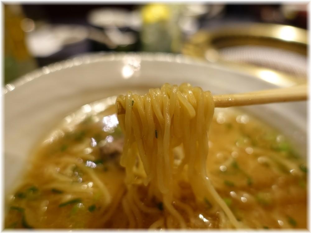晩翠 牛骨ラーメンの麺