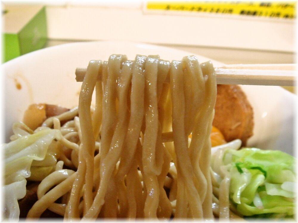 北郎 汁無油あえそばの麺