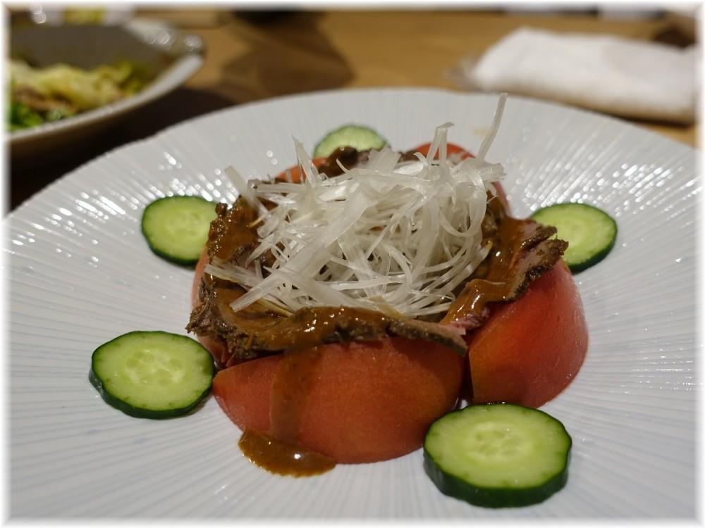 辰池袋南口店 ローストラムトマト添え甘口ポン酢