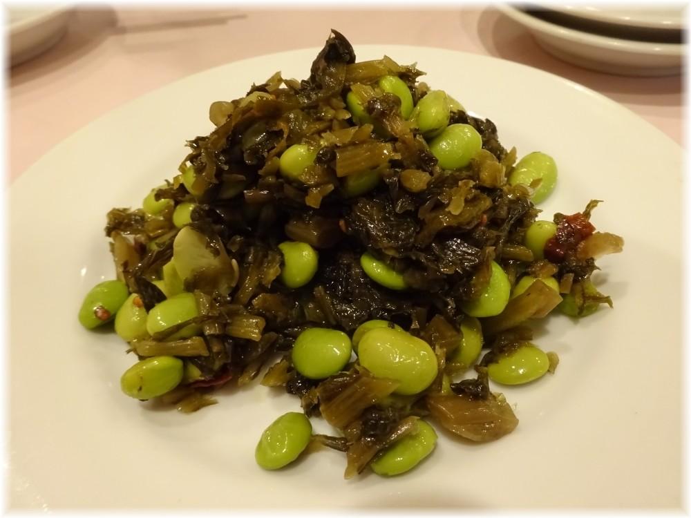 鴻運新店 高菜と枝豆のおつまみ