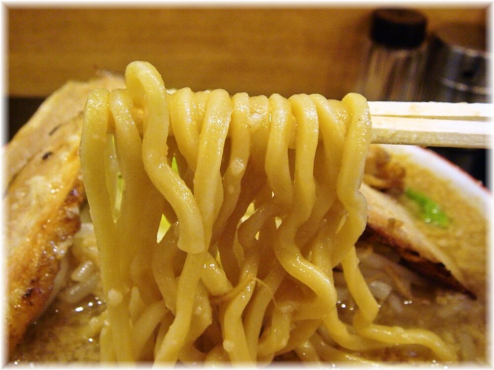 せたが屋本店 魚郎らーめんの麺