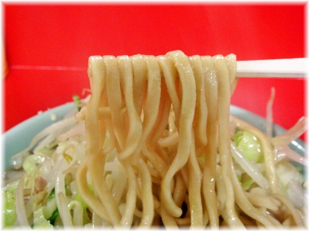 ラーメン二郎 中山駅前店 小ラーメンニンニクの麺