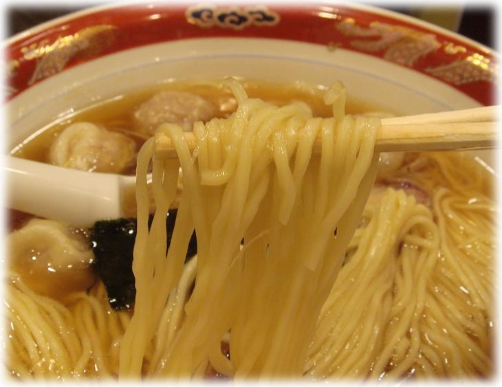 かづ屋五反田店 ワンタンメンの麺
