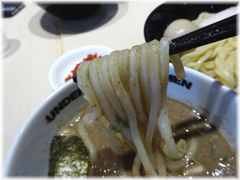 UNDERGROUND RAMEN 頑者 特製辛つけ麺の麺