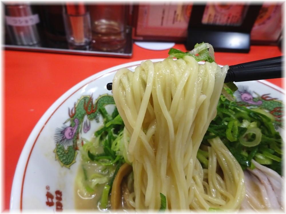 天下一品田町店 ねぎラーメンの麺