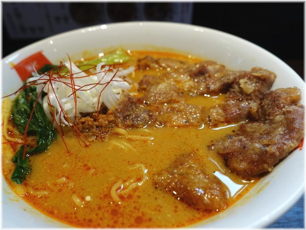 麺屋虎杖大門浜松町店 パーコーカレー担々麺の具