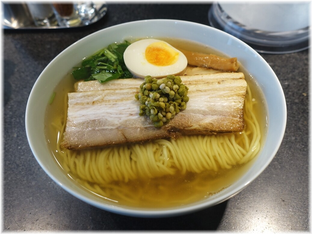 麺屋ひょっとこ銀座店 和風実山椒焼豚麺