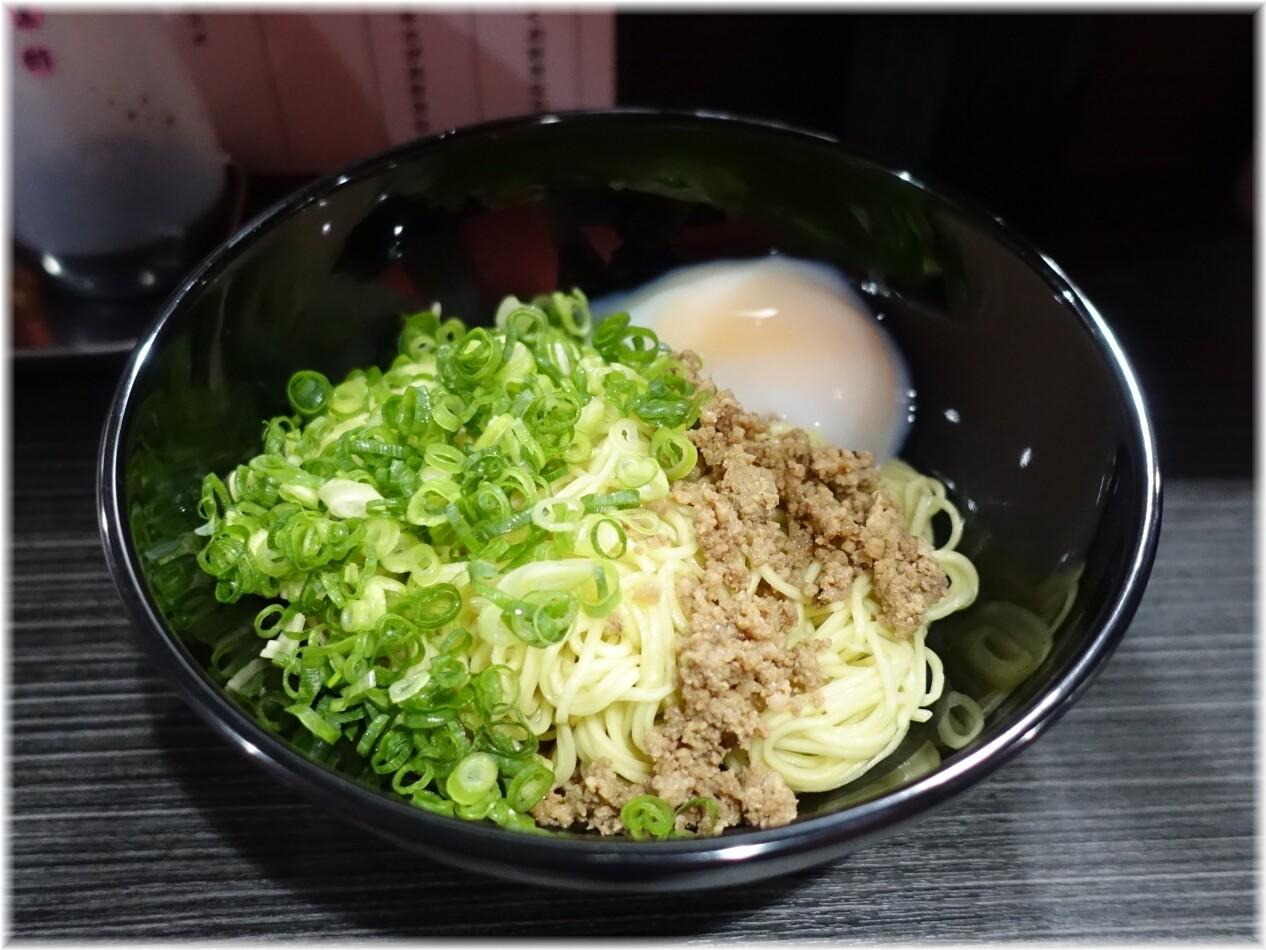 きさく五反田店 汁なし担担麺(並)に温泉たまご