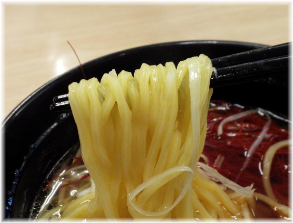 スシロー伊勢原店 塩ラーメンの麺