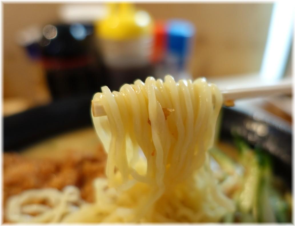 熊さん大宮店2 冷やしスタミナ味噌ラーメンの麺