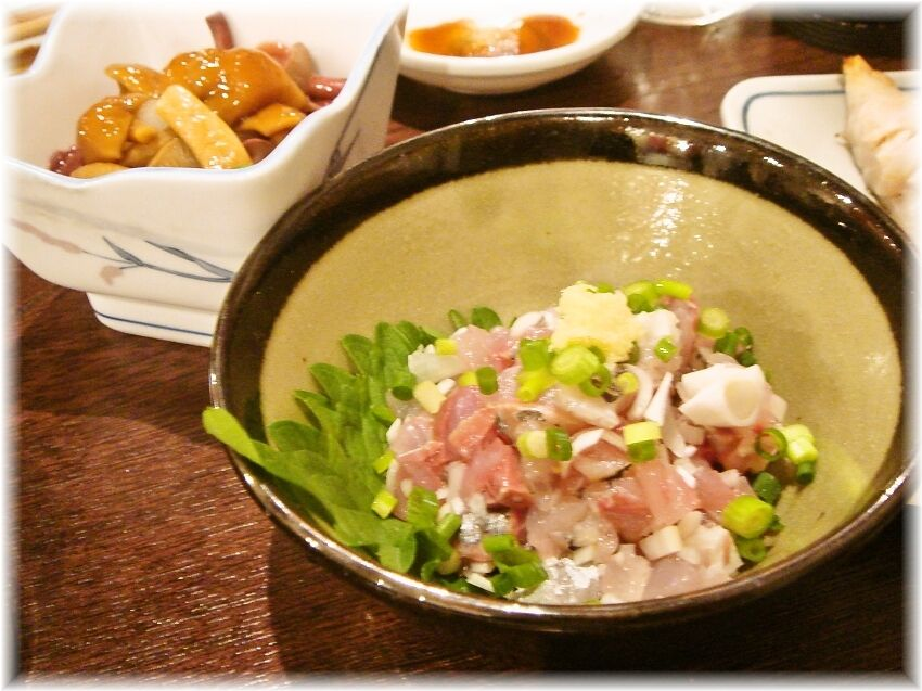 金町製麺 アジのたたき
