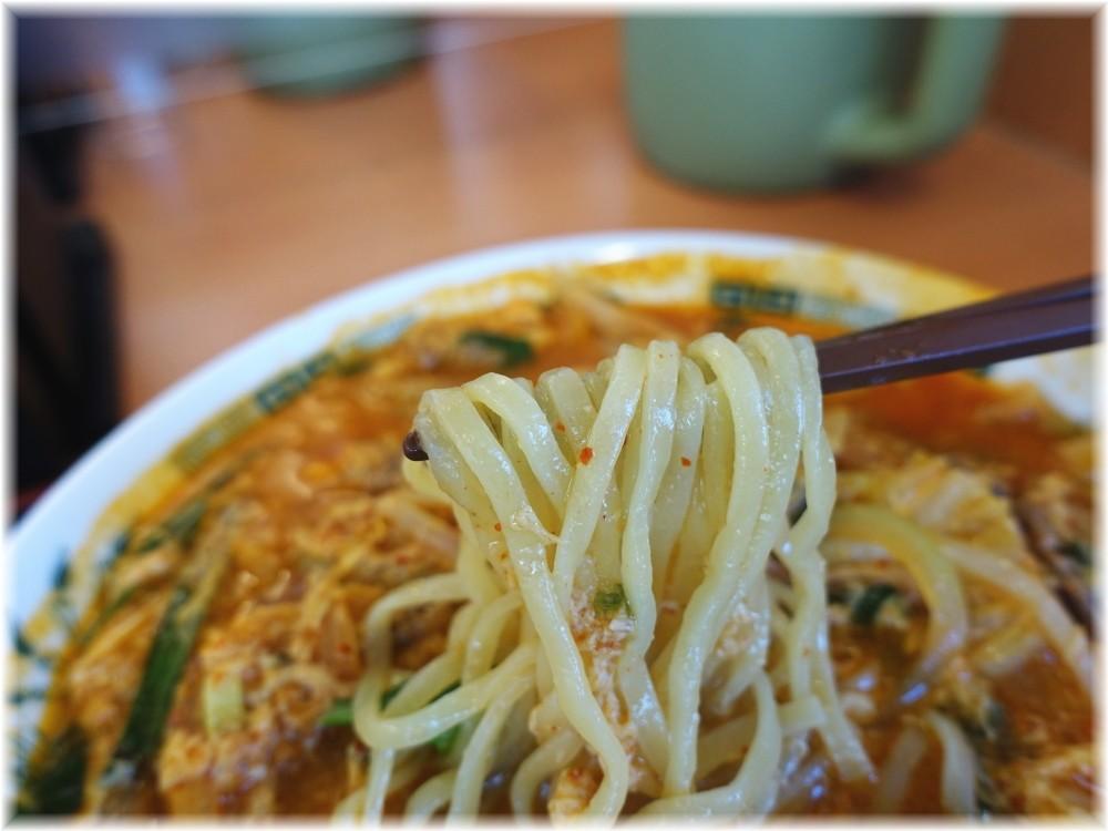 日高屋コクーンシティ店 チゲ味噌ラーメンの麺