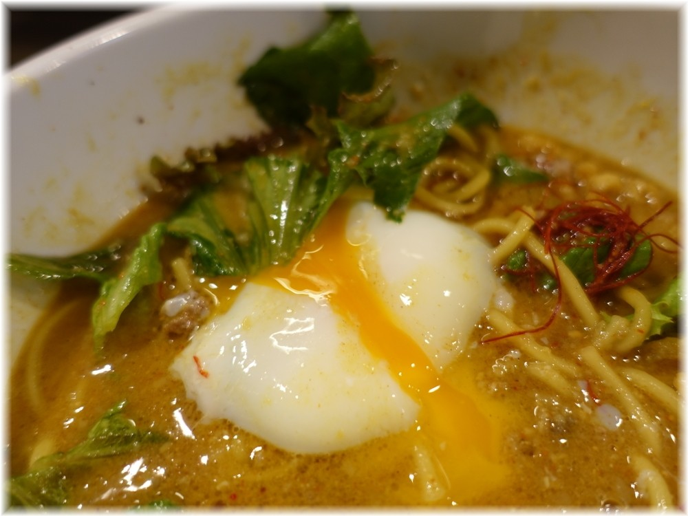 tokyo hoajao style IKEDA2 カリー麺の温泉たまご