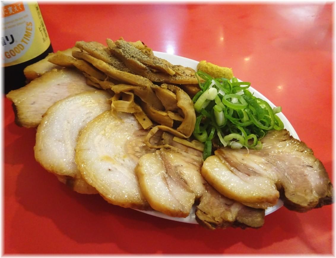 カドヤ食堂総本店 黒豚煮豚とメンマの盛り合わせ