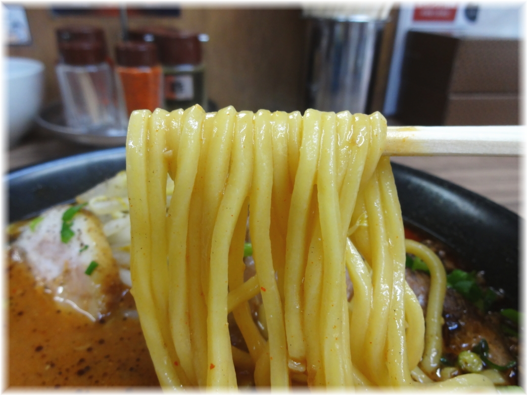 味噌屋八郎商店2 辛味噌らーめん(中辛)の麺