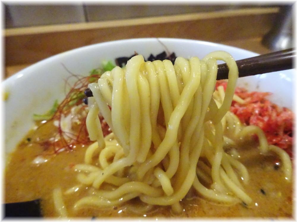 雅楽4 濃厚ごま味噌担々麺の麺
