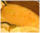 銀座ほんじん 博多もつ鍋(味噌味)のスープ