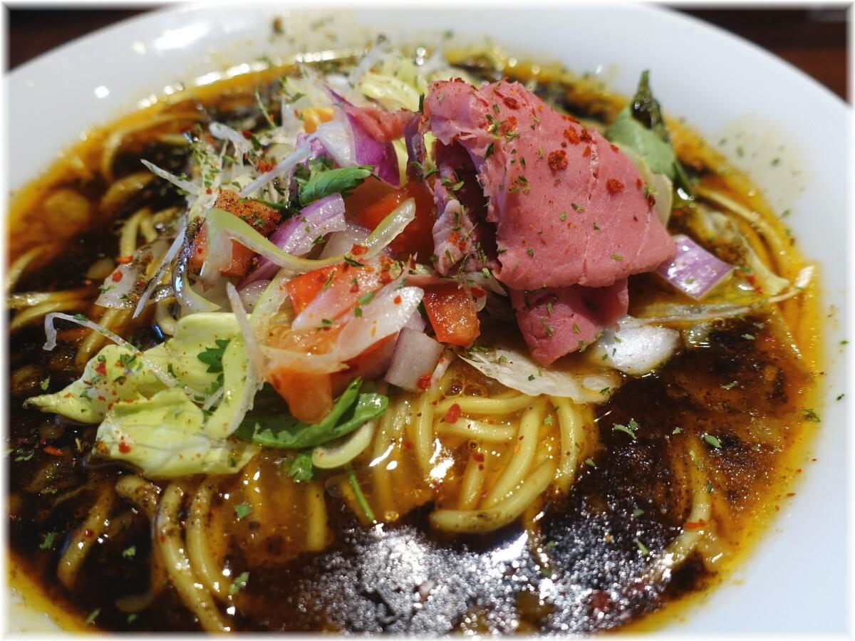 牛王 spicy curry牛骨らー麺の具2