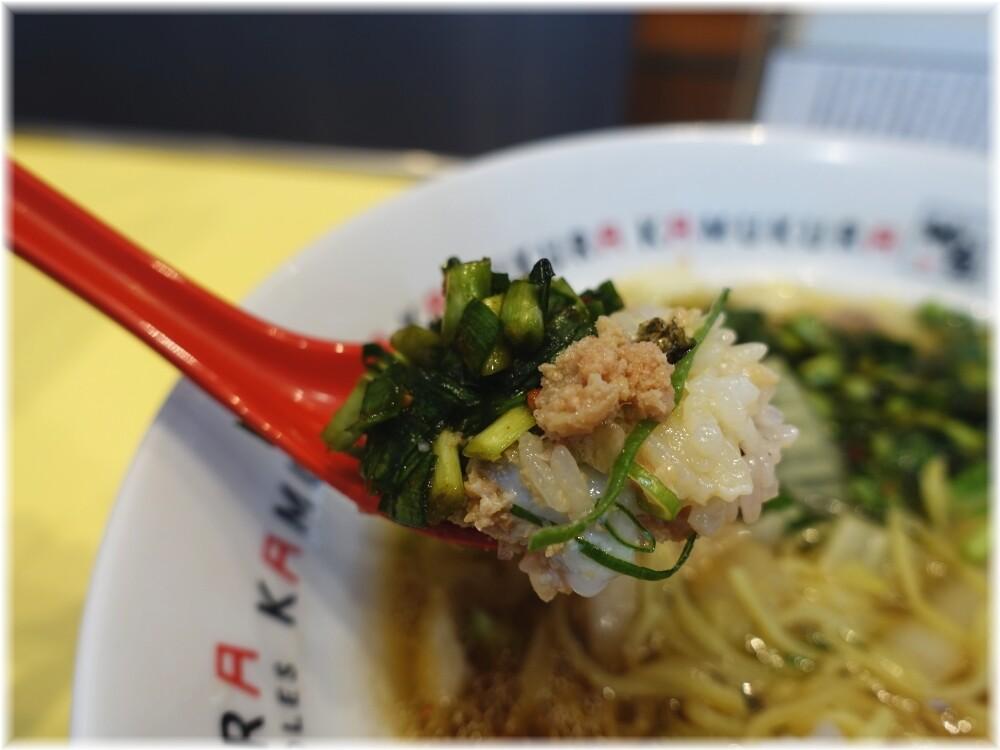 どうとんぼり神座渋谷店 そぼろ丼にニラ薬味