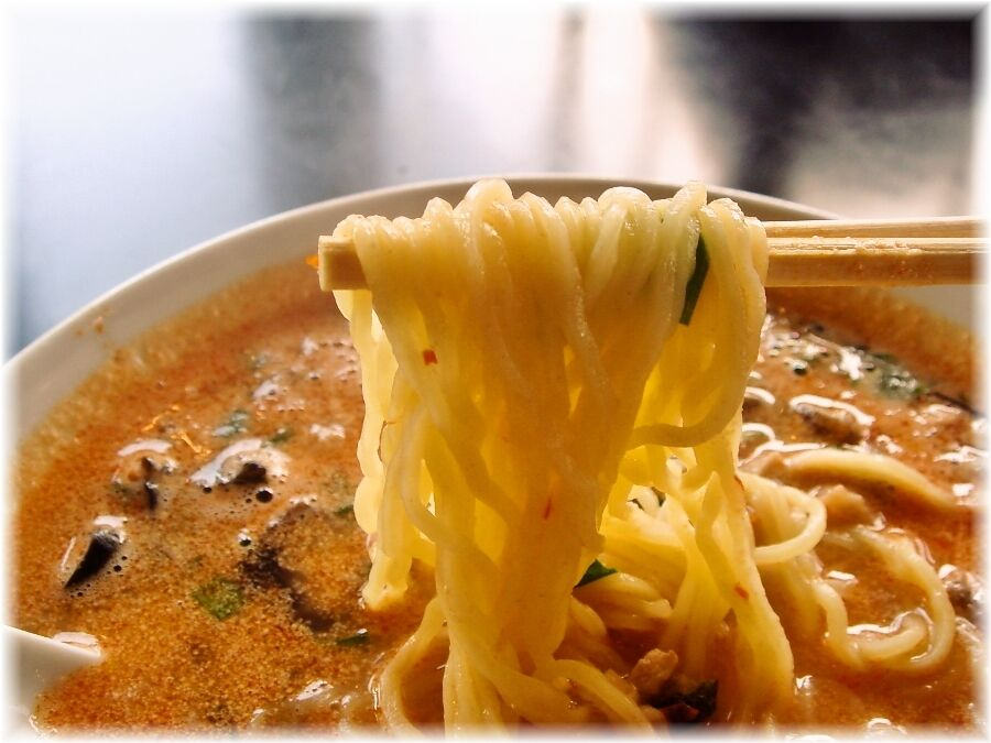鉄龍山 四川坦々麺の麺