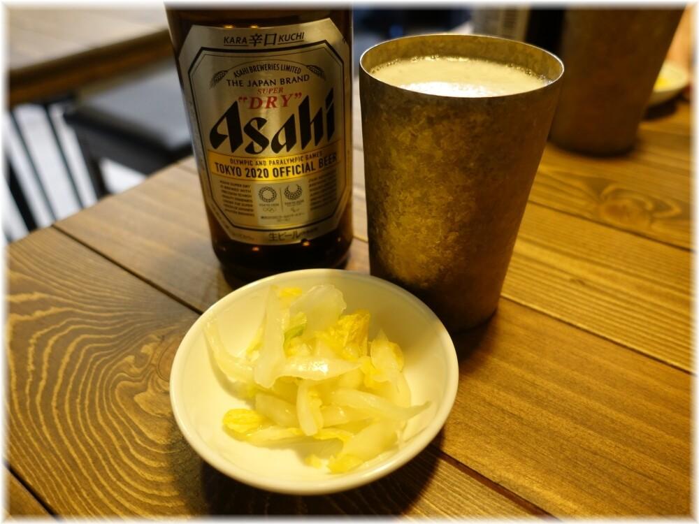 ぷれじでんと ビールと白菜の浅漬け