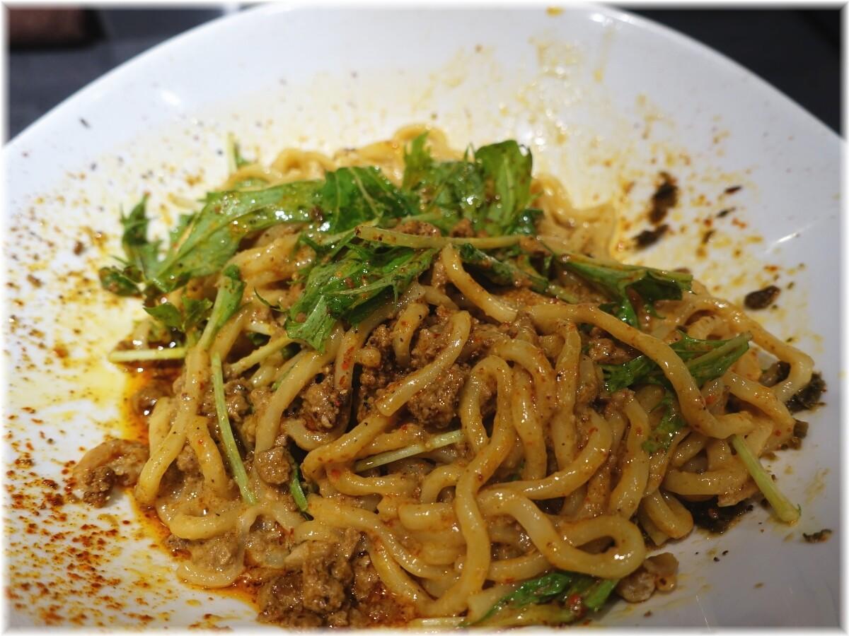 タンタンタイガー蔵前店 汁なし担々麺の麺2