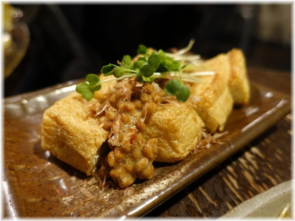 金町製麺9 揚げ豆腐に納豆