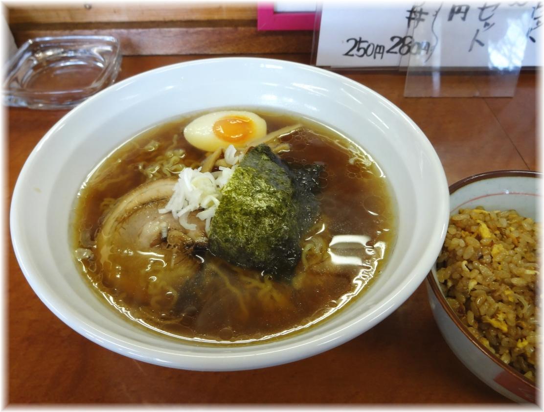 めん麺 正油らぁめん+半チャーハンセット