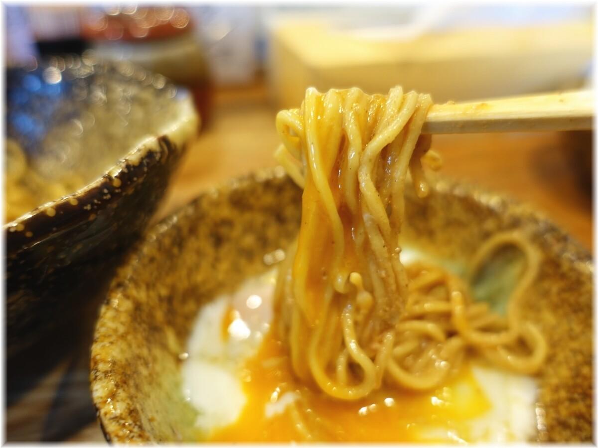 くにまつ 汁なし担担麺元味の麺3