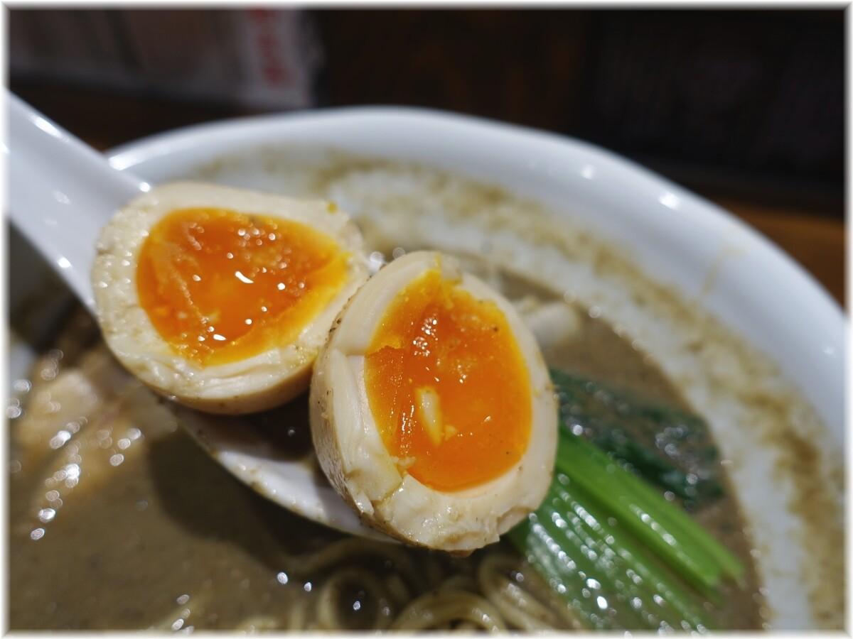 古田島 ゴクニボ瀬戸内煮干らーめん全部のせの味玉