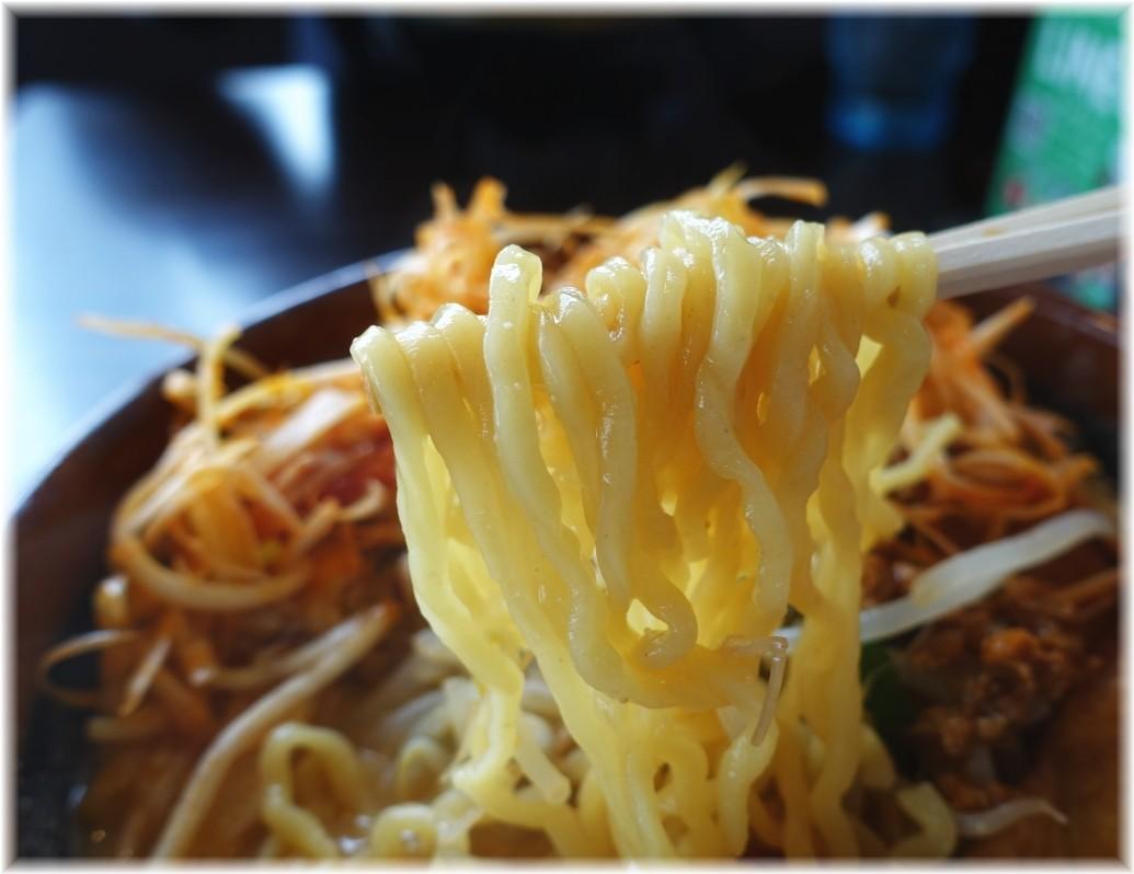 田所商店桶川店 肉ネギラーメン(北海道味噌)の麺