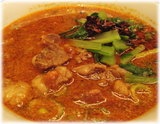 萬福飯店 牛スジの担々麺の具