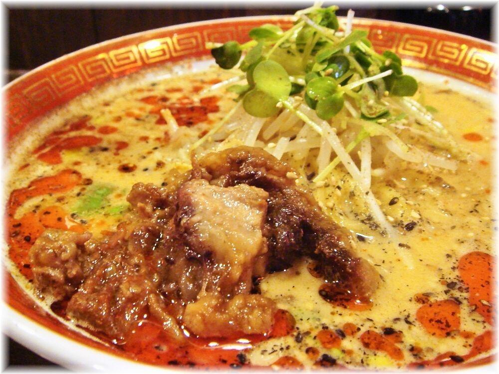 青葉餃子 牛すじ担々麺の具