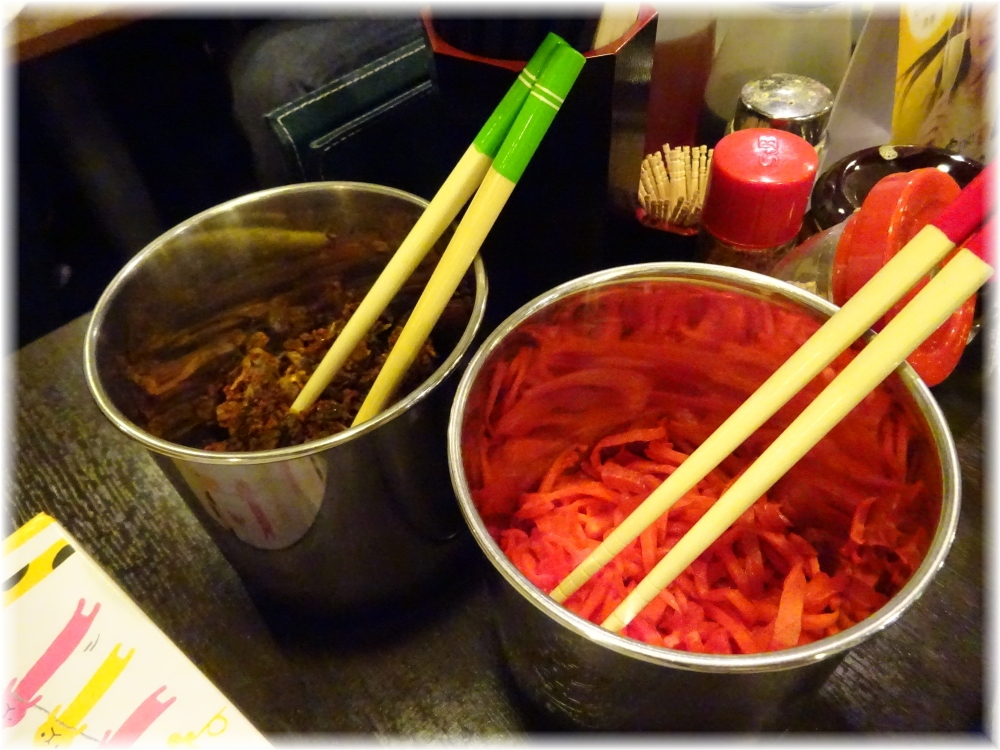 のげら〜 辛子高菜と紅生姜