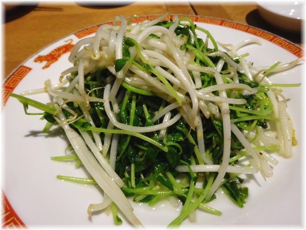 タイガー餃子会館 豆苗とモヤシ炒め