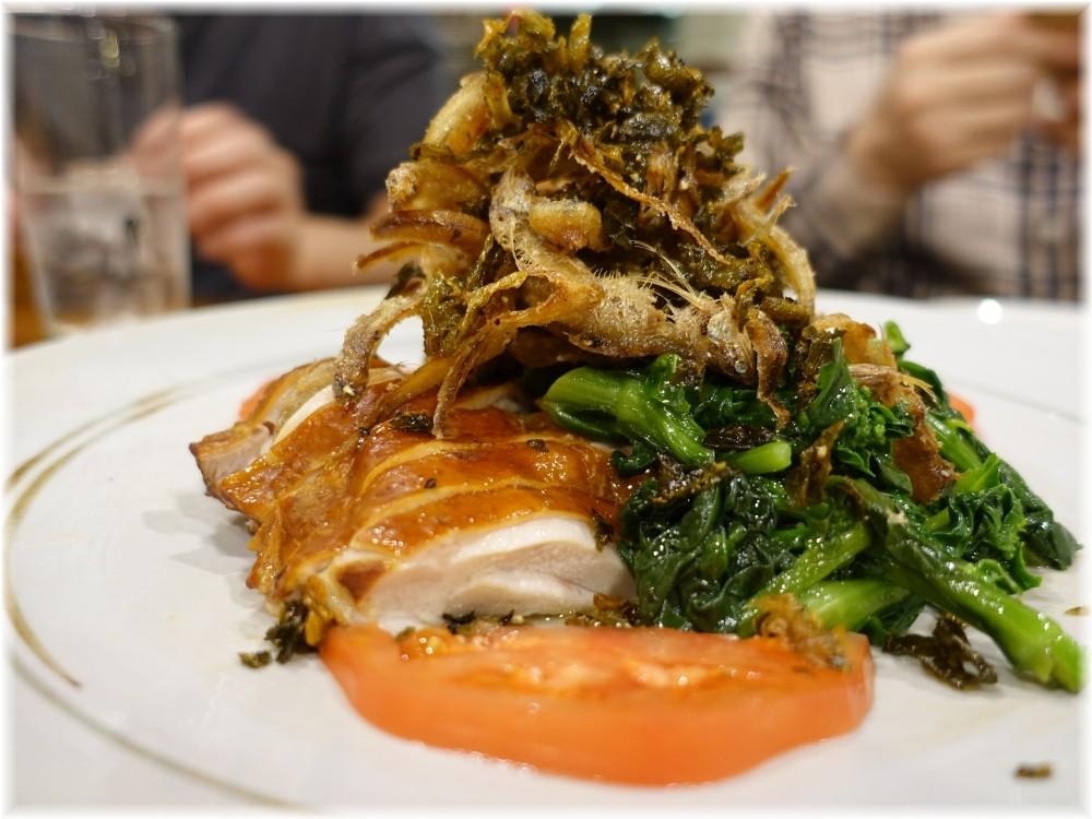 中華料理帆 鶏と青菜の前菜