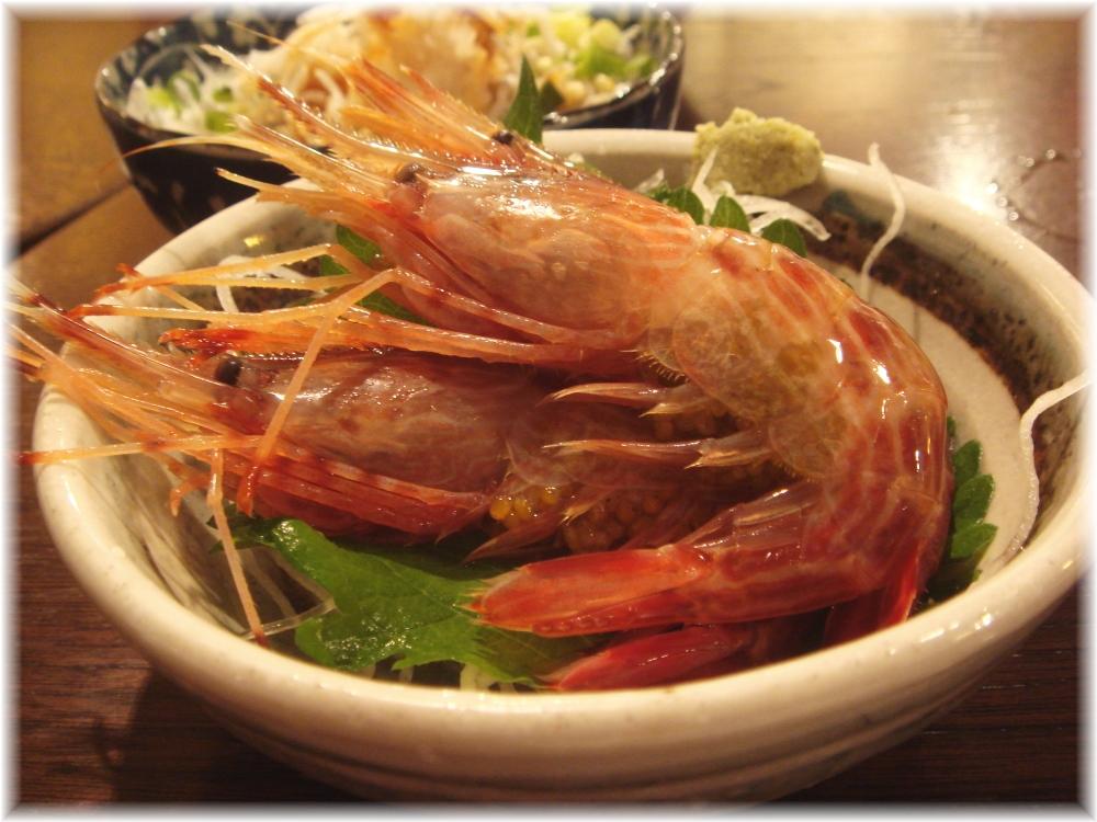 金町製麺 子持ち縞海老の刺身