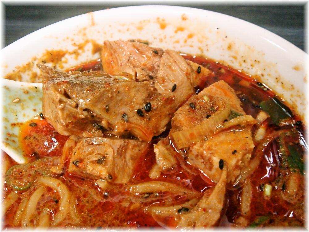 男のラーメン山本 男の担々麺(3辛)のお肉