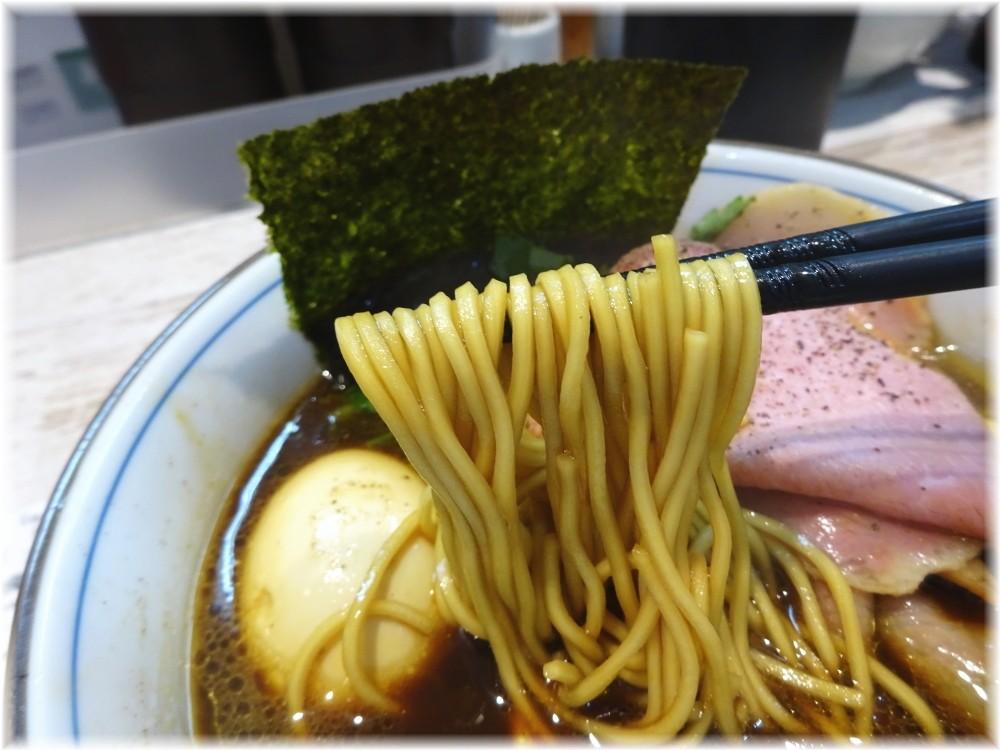 中華そば四つ葉3 四つ葉ブラックの麺