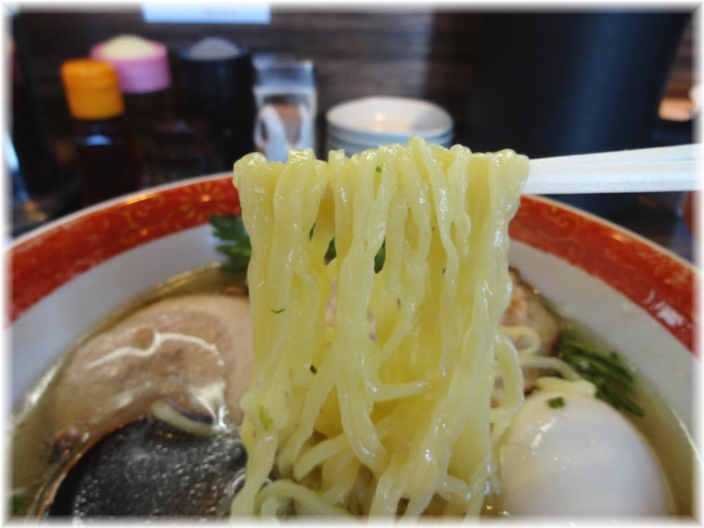 厚木本丸亭 本丸塩らー麺+塩味玉の麺